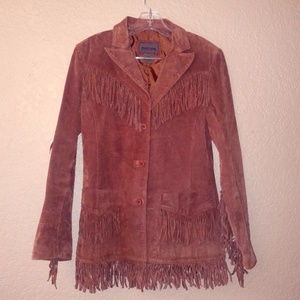 Brandon Thomas leather jacket with tassels